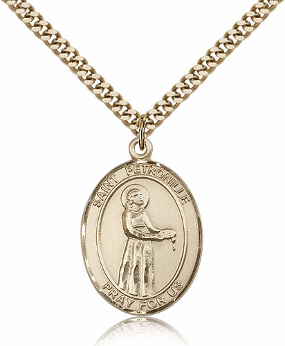 St Petronille 14kt Gold-Filled Patron Saint Pendant Necklace by Bliss