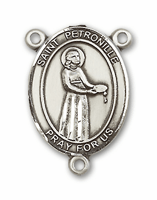St Petronille Sterling Silver Saint Rosary Center by Bliss