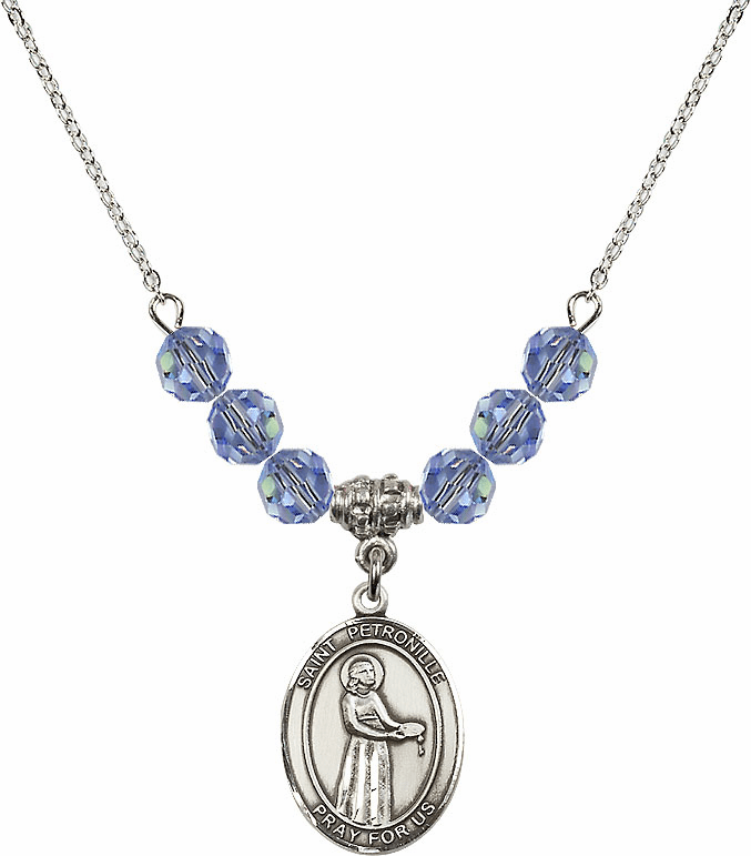 St Petronille Swarovski Crystal Beaded Patron Saint Necklace by Bliss Mfg