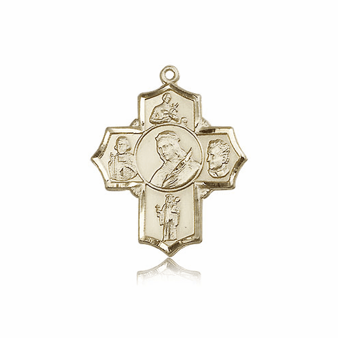 St. Philomena Five Way 14kt Gold Patron Saint Medal