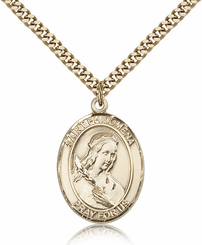 St Philomena Patron Saint 14kt Gold Filled Medal by Bliss