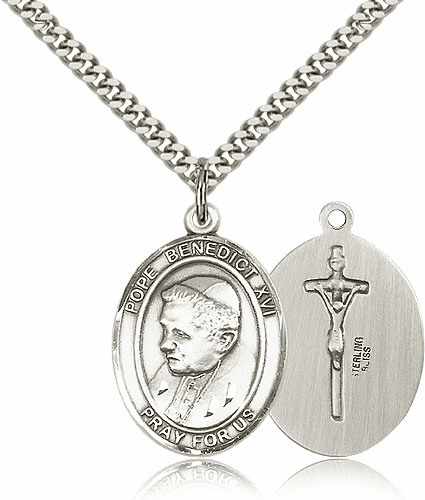 Pope Benedict XVI Pewter Patron Saint Necklace by Bliss