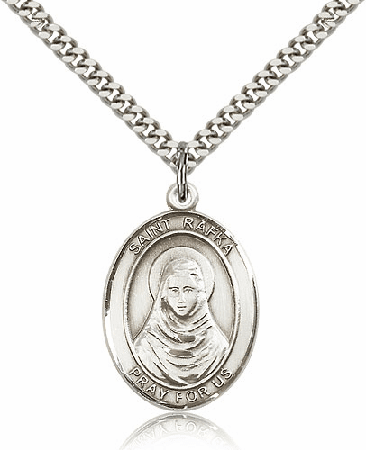 St Rafka Silver-filled Patron Saint Necklace with Chain by Bliss