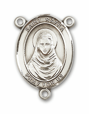 St Rafka Sterling Silver Saint Rosary Center by Bliss