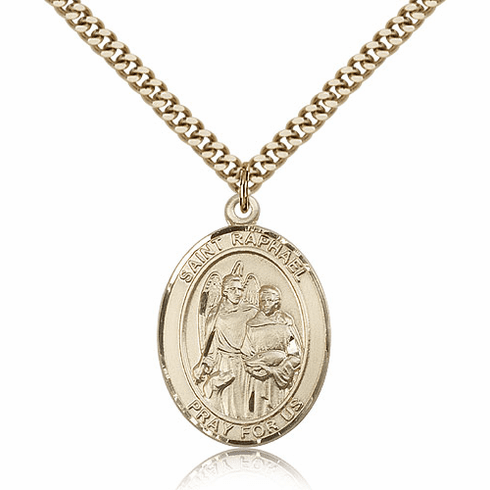 St Raphael the Archangel 14kt Gold-filled Saint Necklace by Bliss