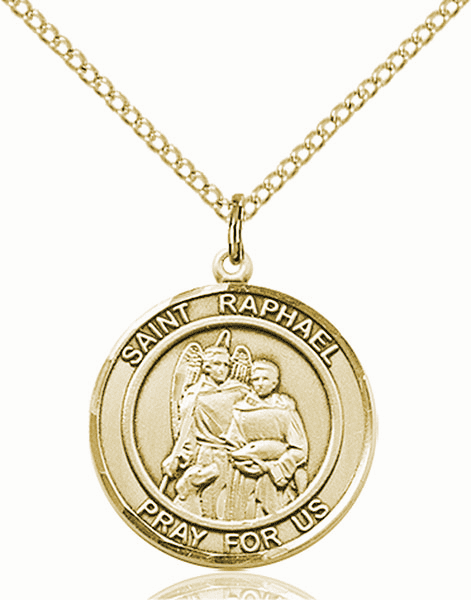 St Raphael the Archangel Medium Patron Saint 14kt Gold-filled Medal by Bliss