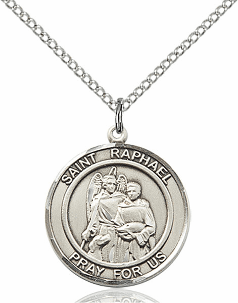 St Raphael the Archangel Medium Patron Saint Silver-filled Medal by Bliss