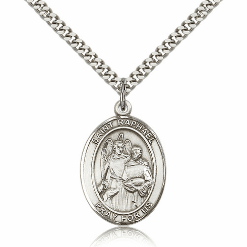 St Raphael the Archangel Silver-Filled Patron Saint Necklace by Bliss