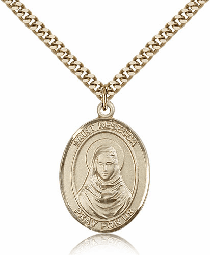 St Rebecca 14kt Gold-Filled Patron Saint Pendant Necklace by Bliss