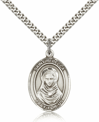 St Rebecca Pewter Patron Saint Catholic Necklace by Bliss