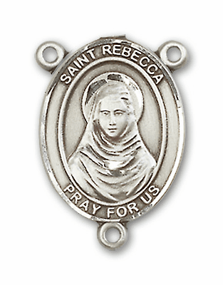 St Rebecca Sterling Silver Saint Rosary Center by Bliss