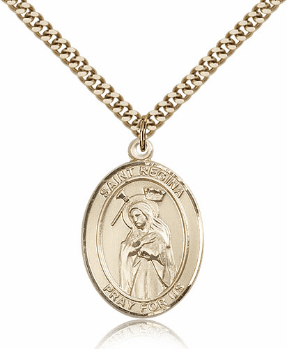 St Regina 14kt Gold-Filled Patron Saint Pendant Necklace by Bliss