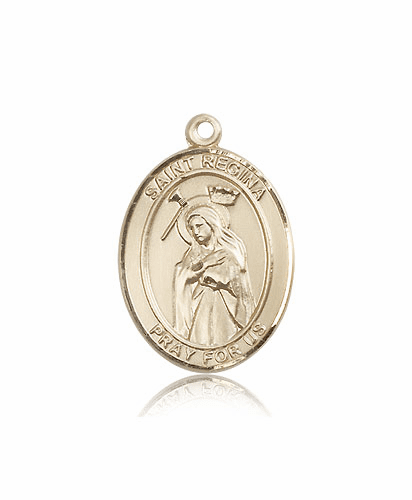 St Regina 14kt Gold Patron Saint Catholic Pendant by Bliss