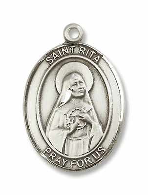 St Rita of Cascia Patron Saint for Physical Abuse/Tumors Jewelry & Gifts