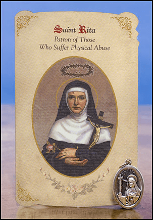 St Rita Physical Abuse Healing Holy Cards Sets 6 pcs by Milagros
