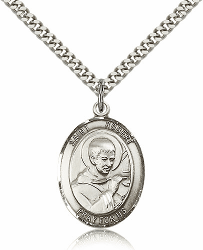 St Robert Bellarmine Sterling Silver Pendant Necklace by Bliss