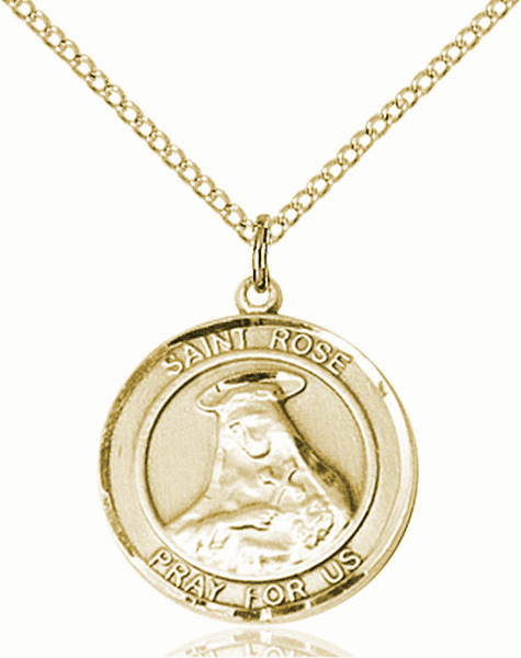 St Rose of Lima Medium Patron Saint 14kt Gold-filled Medal by Bliss