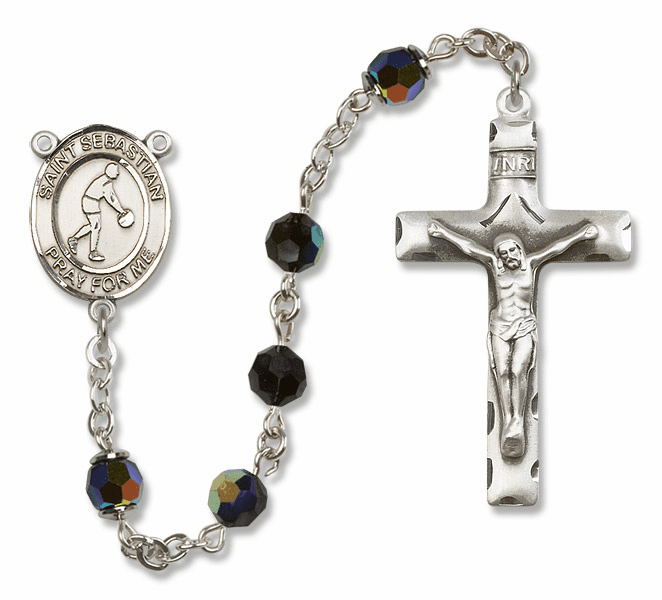 St Sebastian Basketball Sterling Silver Sports Rosary By Bliss