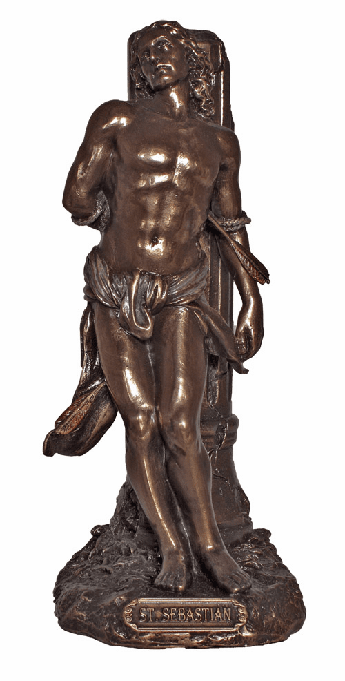 St Sebastian Bronze Patron Saint Statue by Veronese Collection