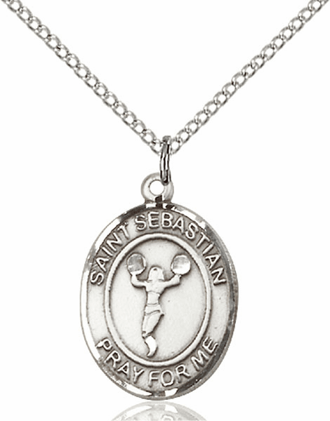 St. Sebastian Cheerleading Pendant Necklace by Bliss