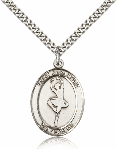 St Sebastian Dance Pewter Patron Saint Necklace by Bliss