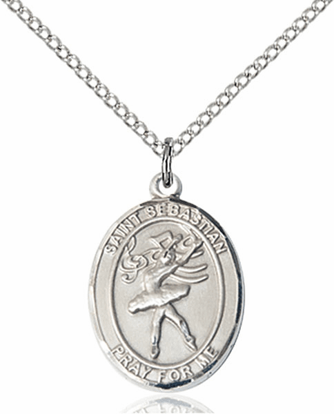 St Sebastian Dance Silver-Filled Patron Saint Medal by Bliss Manufacturing