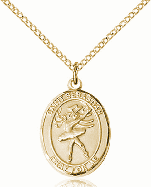 St Sebastian Dance Sports 14kt Gold-Filled Pendant Necklace by Bliss