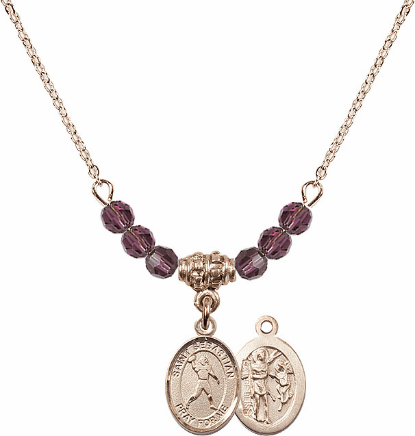 St Sebastian Football Crystal Necklace by Bliss Mfg - More Colors