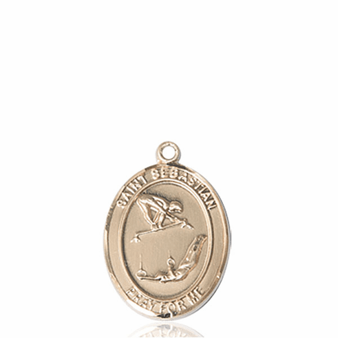 St Sebastian Girl's Gymnastics 14kt Gold Sports Medal Pendant by Bliss