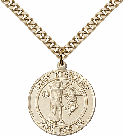St Sebastian Sterling, Pewter, Gold-filled and 14kt Gold Medal Jewelry