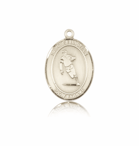 St Sebastian Rugby 14kt Gold Patron Saint Pendant by Bliss