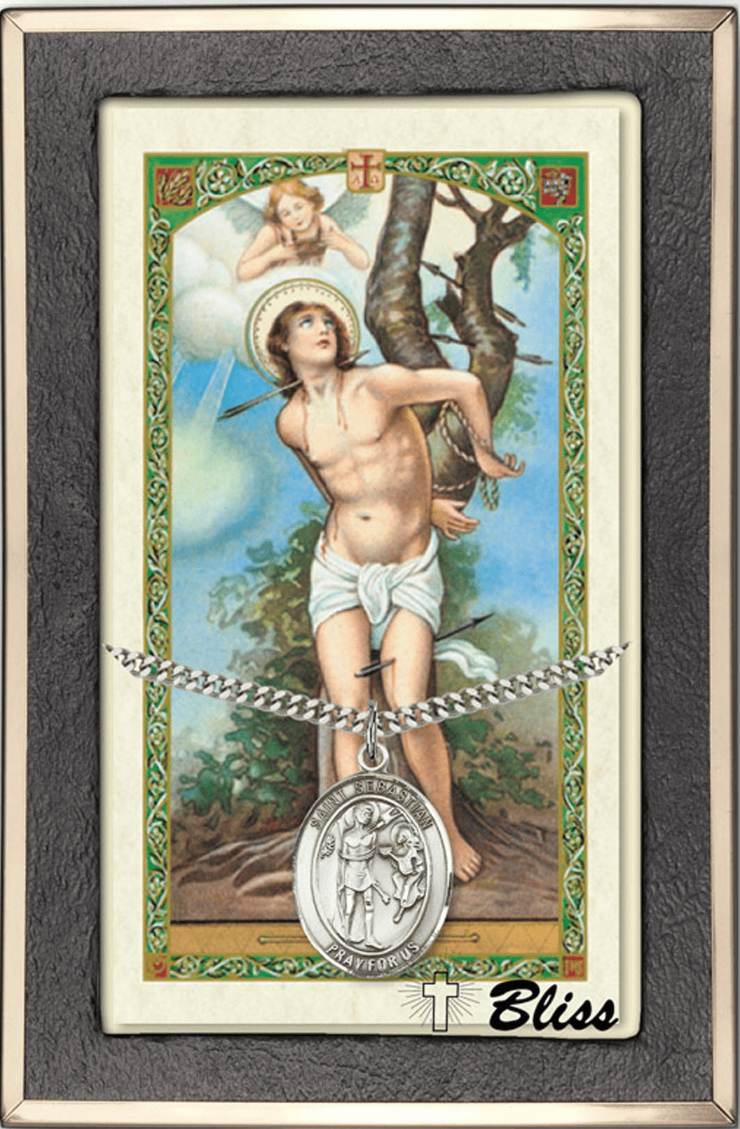 St Sebastian Sports Prayer Card and Necklace Gift Sets