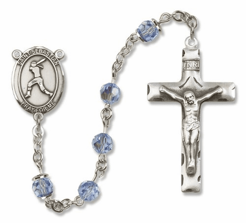 St Sebastian Sterling Silver Sports Softball Rosary