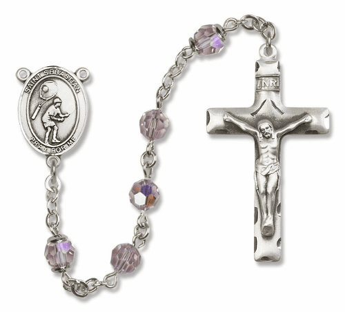 St Sebastian Tennis Sterling Silver Sports Rosary