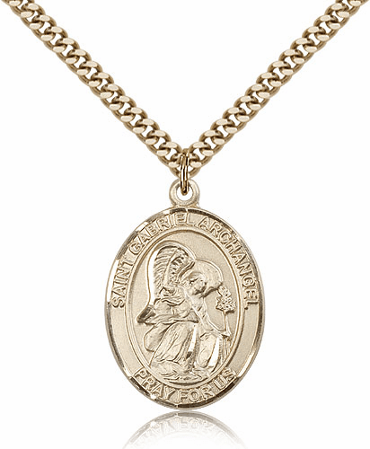 St St Gabriel the Archangel 14kt Gold-filled Saint Necklace by Bliss
