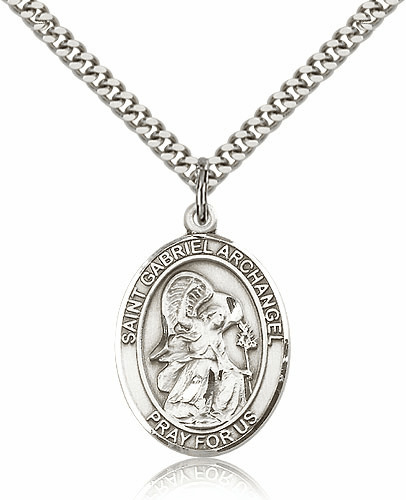 St St Gabriel the Archangel Sterling Silver-filled Patron Saint Necklace by Bliss