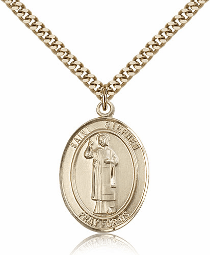 St Stephen the Martyr 14kt Gold-filled Saint Necklace by Bliss