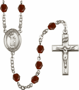 St Stephen the Martyr Birthstone Crystal Prayer Rosary by Bliss - More Colors