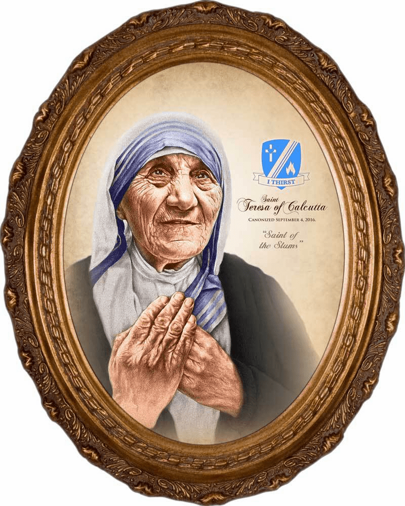 St Teresa of Calcutta Commemorative Portrait Canvas Picture