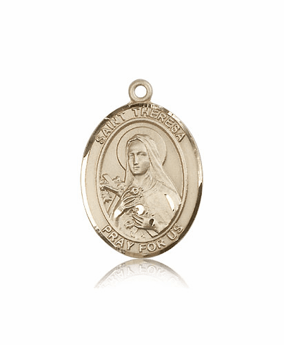 St Theresa Lisieux 14kt Gold Patron Saint Catholic Pendant by Bliss
