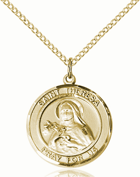 St Theresa Medium Patron Saint 14kt Gold-filled Medal by Bliss