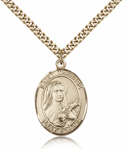 St Therese Lisieux 14kt Gold-Filled Patron Saint Pendant Necklace by Bliss