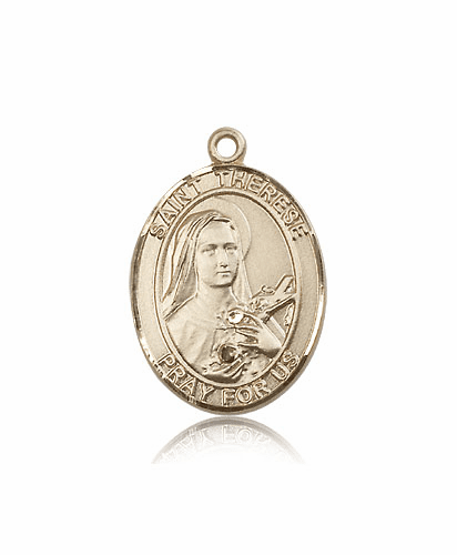 St Therese Lisieux 14kt Gold Patron Saint Catholic Pendant by Bliss