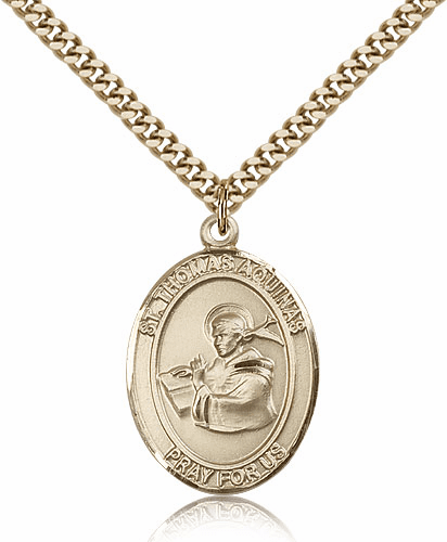 St Thomas Aquinas  14kt Gold-filled Saint Necklace by Bliss
