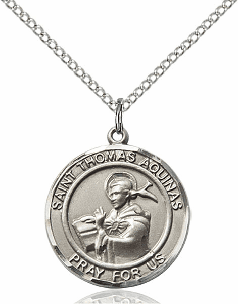 St Thomas Aquinas Medium Patron Saint Pewter Medal by Bliss