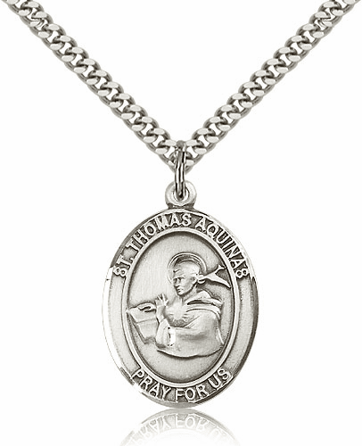 St Thomas Aquinas  Pewter Patron Saint Necklace by Bliss