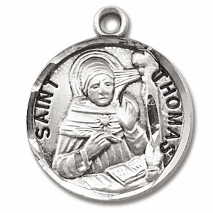 St Thomas Aquinas Sterling Silver Patron Saint Necklace by HMH Religious