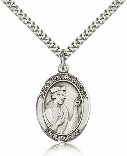 St Thomas More Silver-Filled Patron Saint Necklace by Bliss