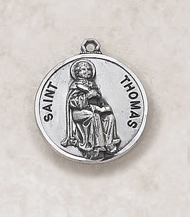 St Thomas Sterling Sterling Patron Saint Medal w/Chain by Creed Jewelry