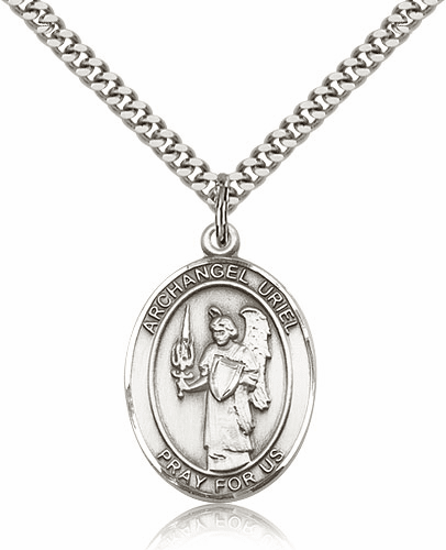 St Uriel the Archangel Pewter Patron Saint Necklace by Bliss